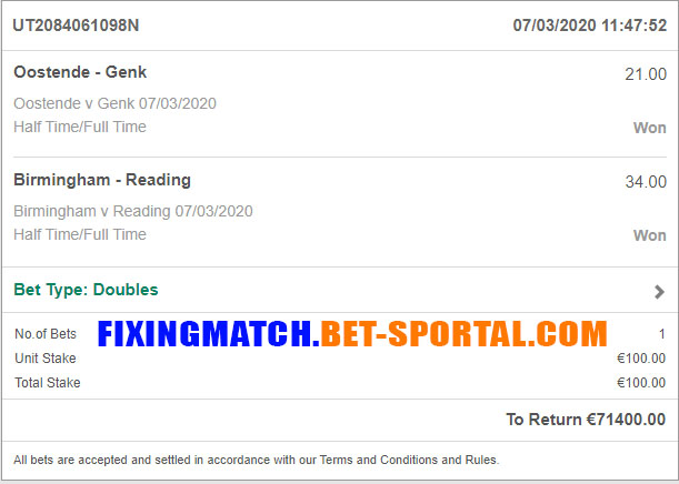 football fixing matches 100%